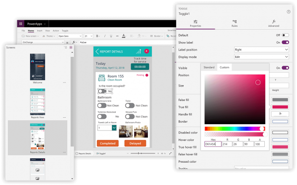 Microsoft Power Apps screenshot